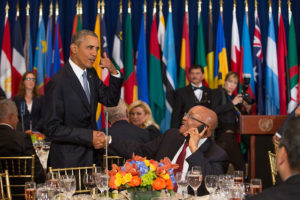 US & South African Presidents at Luncheon for World Leaders