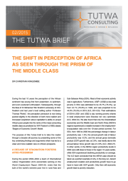 The Shift in Perception of Africa as seen Through the Prism of the Middle Class