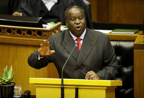 Minister Mboweni Delivers the Mini Budget Speech: Case of a Blinking Hatchet Man